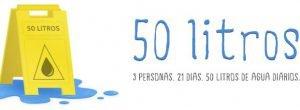 3 personas. 21 días. 50 litros de agua al día