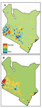 Focos de Malaria en Kenia