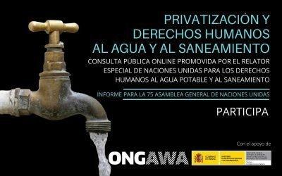 Privatización y Derechos Humanos al Agua Potable y al Saneamiento